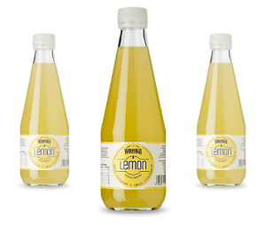 Lemon drink in 300 ml bottle glass