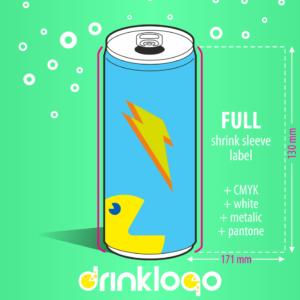 Design & Order Isotnic drink 250ml alu can DrinkLOGO.eu from 96 pcs 7 days