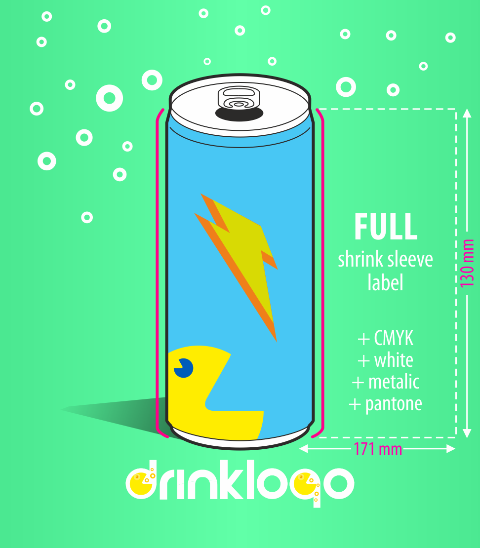 Design & Order Isotnic drink 250ml alu can DrinkLOGO.eu from 96 pcs 7 days